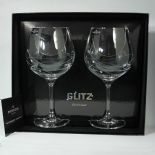 Dartington Crystal 'Glitz' Copa G&T Glasses , PERSONALISED ref DGCP